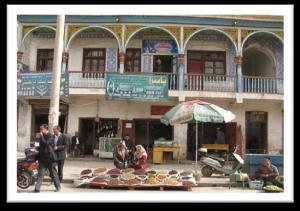 Street stall in Xinjiang