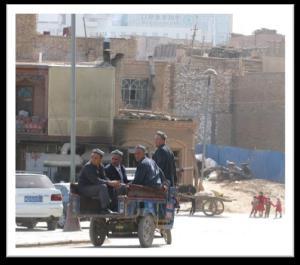 Cart in a Xinjiang street