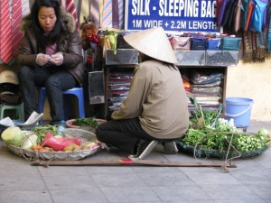lady selling vegetables