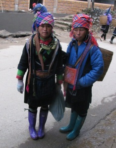 two girls wearing tribal costume