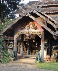 Old teak house in Phrae